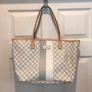 Kate Spade Tote, Gray, White & Tan